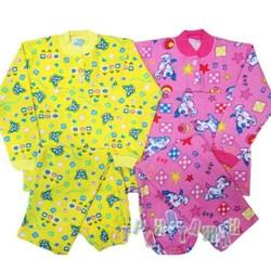Пижама кокетка футер цветной. Для девочки