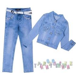 Джинсовый костюм для девочки 8953 (Турция)