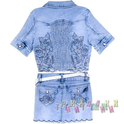 Джинсовый костюм для девочки 8803 (Турция)