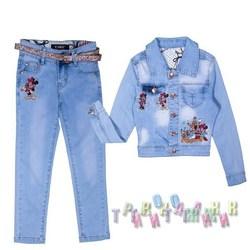 Джинсовый костюм для девочки 031 (Турция)