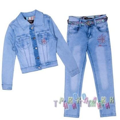 Джинсовый костюм для девочки 9353-8 (Турция)