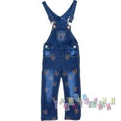 Комбинезон джинсовый для девочки м.8407 (Турция)