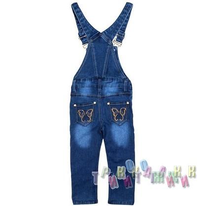 Комбинезон джинсовый для девочки м.8080 (Турция)