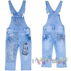 Комбинезон джинсовый для девочки м.6856 (Турция)