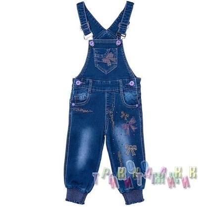 Комбинезон джинсовый для девочки м.8637 (Турция)