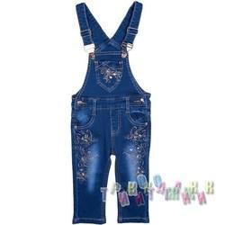 Комбинезон джинсовый для девочки м.30949 (Турция)