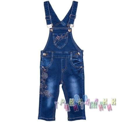 Комбинезон джинсовый для девочки м.30950 (Турция)