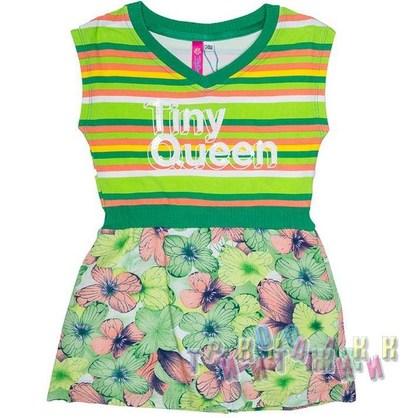 Платье трикотажное, м.6721. Зелёное