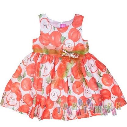 Платье трикотажное, Q8803. Коралловое