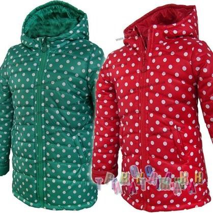 Куртка для девочки Алина. Горох. Сезон Весна-Осень.