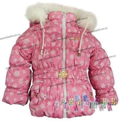 Куртка для девочки Сказка (Украина). Сезон Зима.