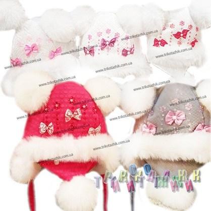 Комплект ручной работы Шапка и шарфик 002 (Украина)