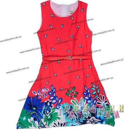 Платье трикотажное, м.2591 (Турция)
